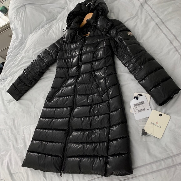 bf59bfb28 Moncler Moka Puffer Black Women's Jacket Size 1 NWT